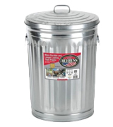 Behrens 1211K Garbage Can With Side Drop Handles