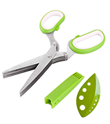 Chuzy Chef 5 Blade Gadget Scissor Shear with Cleaning Brush
