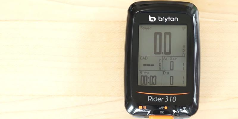 Bryton Rider 310 GPS Cycling Computer application