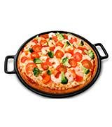 Home-Complete Cast Iron Pizza Pan