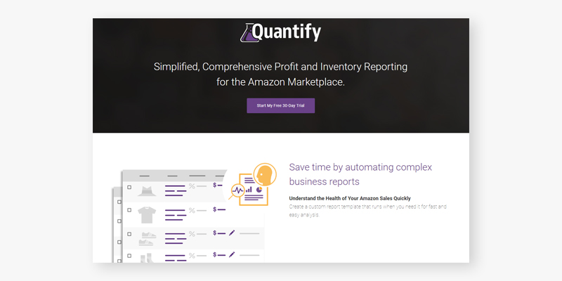 SellerLabs Quantify: Simplified, Comprehensive Profit and Inventory Reporting for the Amazon Marketplace in the use