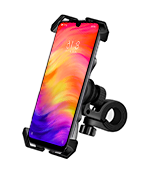 Visnfa PB04-AC Bike Phone Mount with Stainless Steel Clamp Arms