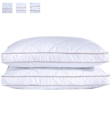 puredown Downproof King Set of 2 Natural Goose Down Feather Pillows