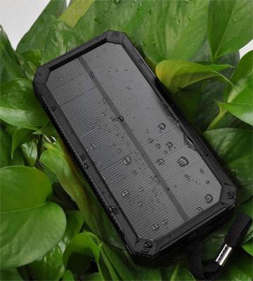 Review of QueenAcc Portable Solar Charger with LED Lights