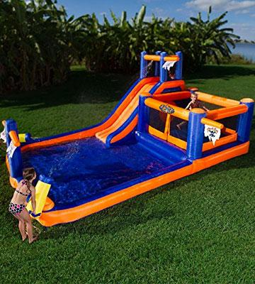 Review of Blast Zone Pirate Bay Inflatable Combo Water Park and Bounce