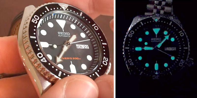 Seiko Men's SKX007K Diver's Automatic Watch in the use