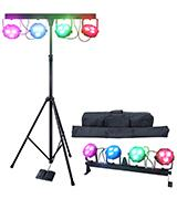 DragonX 4 Bar mobile DJ lighting stand