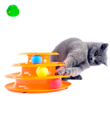 Petstages 3X THE FUN Tower of Tracks Cat Toy