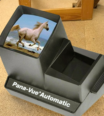 Review of Pana-Vue Automatic Lighted Slide Viewer for 35mm with AC Adapter