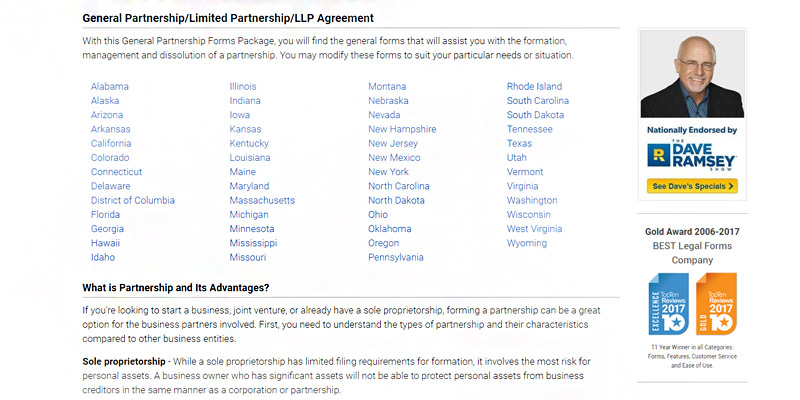Review of USLegal Partnership Agreement