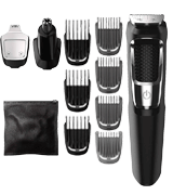 Philips Norelco MG3750/50 Multi Groomer Set (13 piece, beard, face, nose, and ear hair trimmer and clipper)