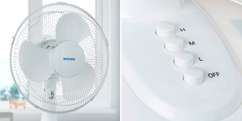 Review of Hurricane 736549 Quiet Table Fan, Desk Fan