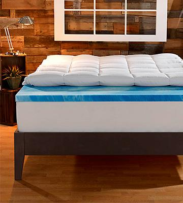 "Review of Sleep Innovations 4"" Dual Layer Mattress Topper Gel Memory Foam"