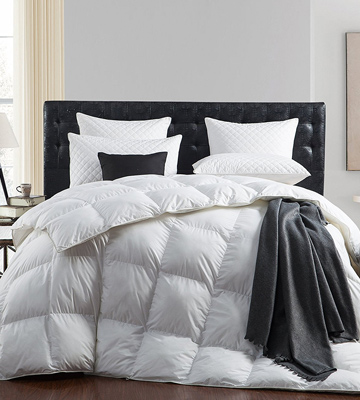 Review of Egyptian Bedding 5155747 Luxurious 1200 Thread Count Goose Down Comforter , King Size