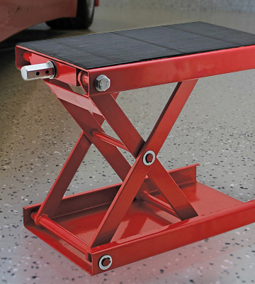 Review of Extreme Max 5001.5044 Wide Motorcycle Scissor Jack (0.5 Ton Capacity)