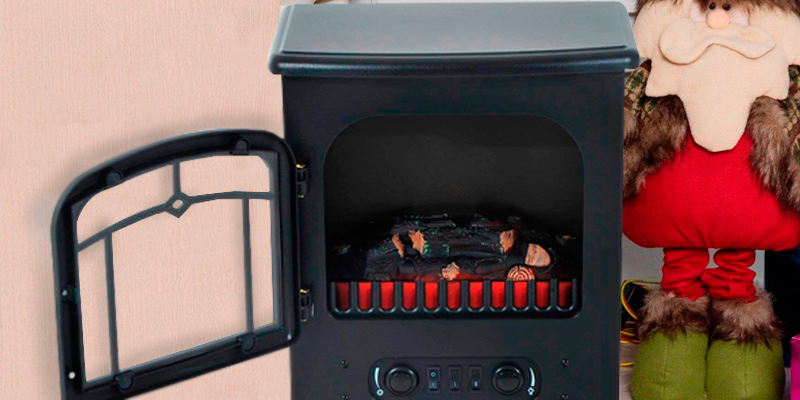 HomCom 820 Freestanding Electric Fire Place Stove in the use