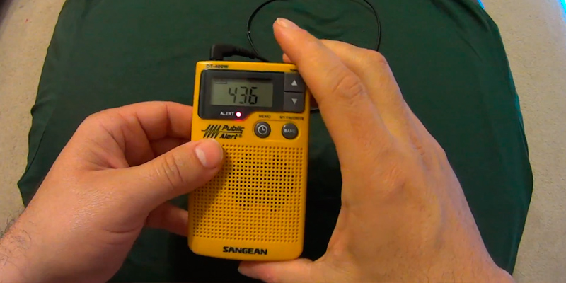 Review of Sangean DT-400W AM/FM Digital Weather Alert Pocket Radio