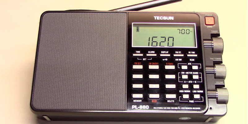 Review of Tecsun PL880 Portable Digital PLL Dual Conversion AM/FM, Longwave & Shortwave Radio with SSB (Single Side Band) Reception