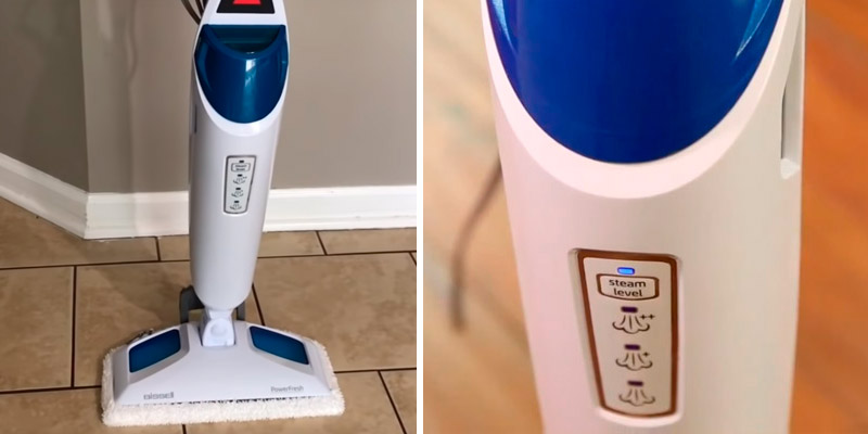 Bissell 1940 PowerFresh Steam Mop, Floor Steamer, Tile Cleaner, and Hard Wood Floor Cleaner in the use