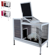 Petsfit Rabbit Hutch Bunny Cage for Indoor Use