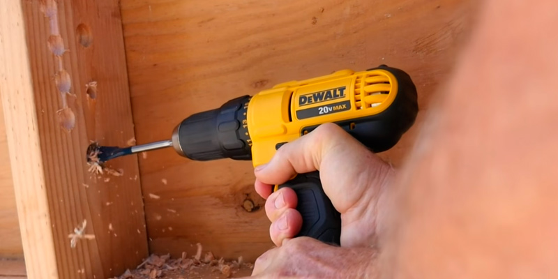 DEWALT DCD771C2 20V MAX Cordless Lithium-Ion 1/2 inch Compact Drill Driver Kit in the use