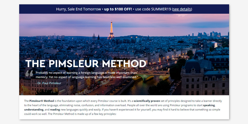 Pimsleur Online Chinese Course in the use