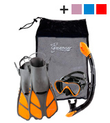 Seavenger Aviator Snorkeling Set with Gear Bag