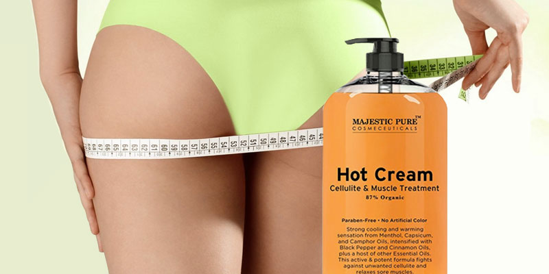 Majestic Pure Anti Cellulite Hot Cream application