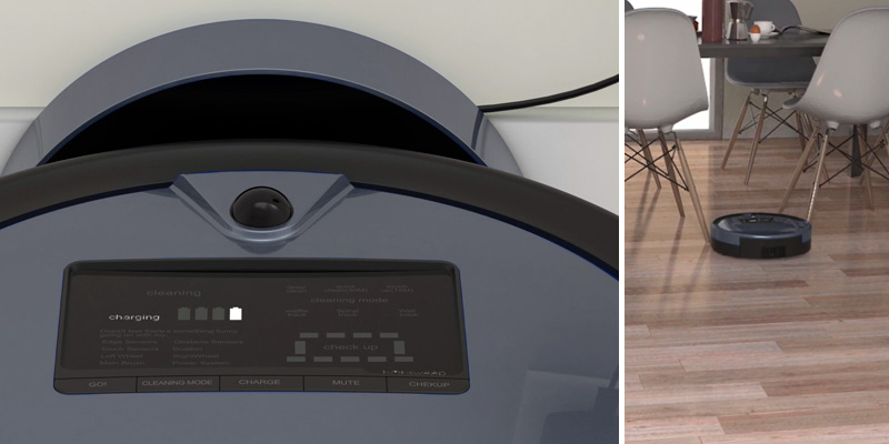 bObsweep PetHair Plus Robotic Vacuum Cleaner and Mop in the use