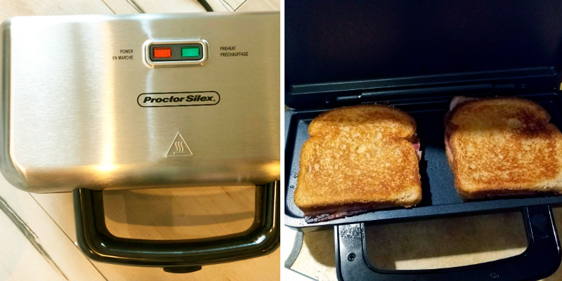 Proctor Silex 25415 Deluxe Hot Sandwich Maker in the use