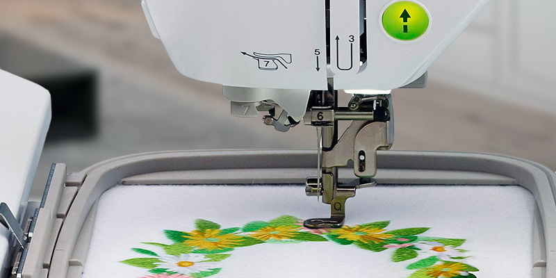Brother SE1900 Computerized Sewing and Embroidery Machine in the use
