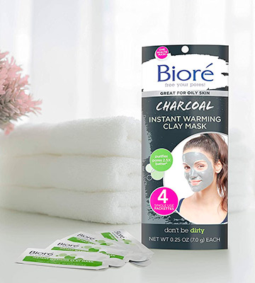Review of Biore Charcoal Instant Warming Clay for Oily Skin Face Mask
