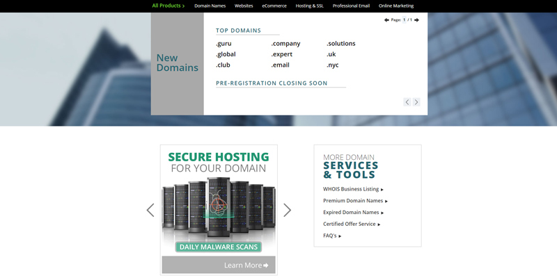Networksolutions Web Hosting application