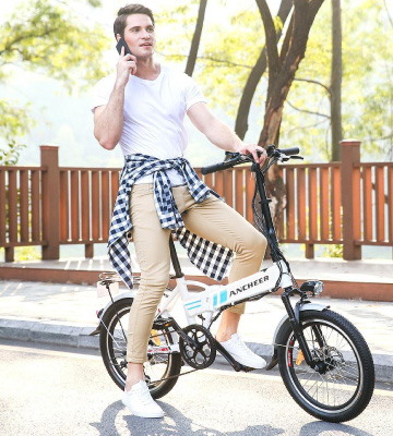 Review of Ancheer _Folding Collapsible Electric Commuter Bike