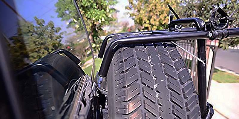 Allen Sports Premier 3 Bike Spare Tire Rack in the use