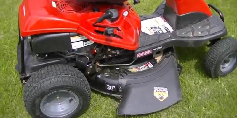 Troy-Bilt 420cc OHV Riding Lawn Mower in the use