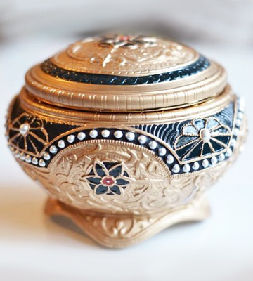 Review of The San Francisco Music Box Company 842970015949 Anastasia - Alexandra & Nicholas Hinged Trinket Box