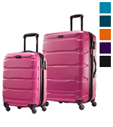 Samsonite Omni PC 2 Piece Set Pink of 20 and 28 Spinner Suitcase