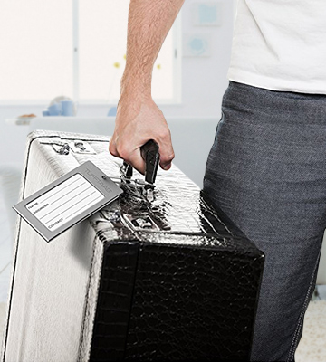 Review of ProudGuy TUFFTAAG Luggage Tags Business Card Holder, Aluminum