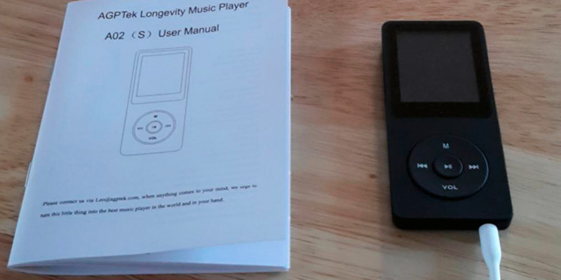 AGPtEK A02 MP3 Lossless Sound Music Player application