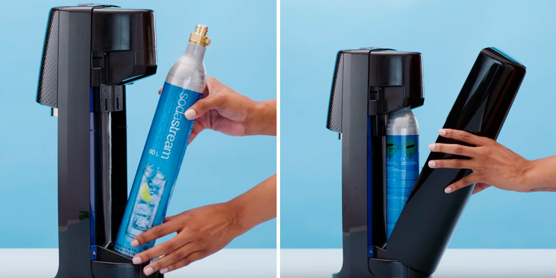 SodaStream Fizzi One Touch Sparkling Water Machine in the use