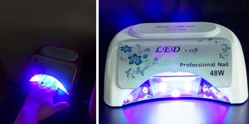 Roleadro LED&CCFL Nail Dryer in the use