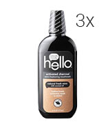 Hello Oral Care Naturally friendly Activated Charcoal Teeth Whitening Fluoride Free Mouthwash