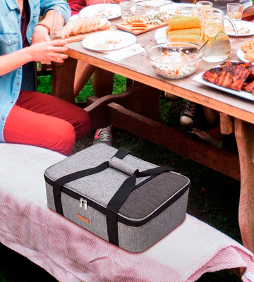 Review of LUNCIA 15.7 x 11.4 x 4.7 Insulated Casserole Carrier for Hot or Cold Food
