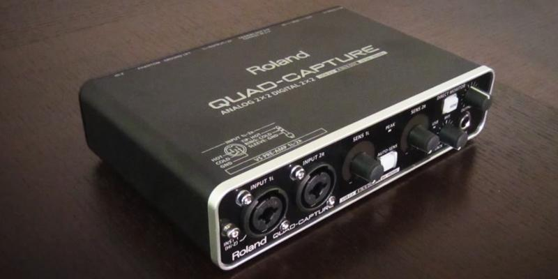 Roland QuadCapture Audio Interface in the use