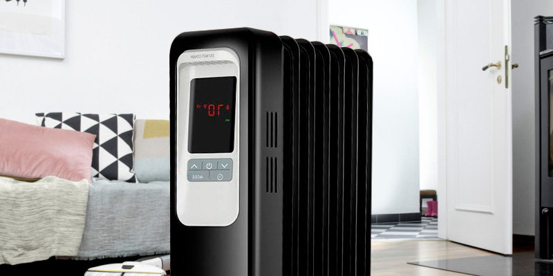 Aireplus Space Heater 1500W Oil Filled Radiator Electric Heater in the use