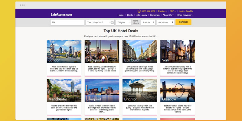 Detailed review of Late Rooms Hotel Booking Service