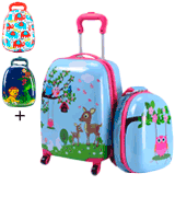 Goplus Deer & Birds Luggage Set