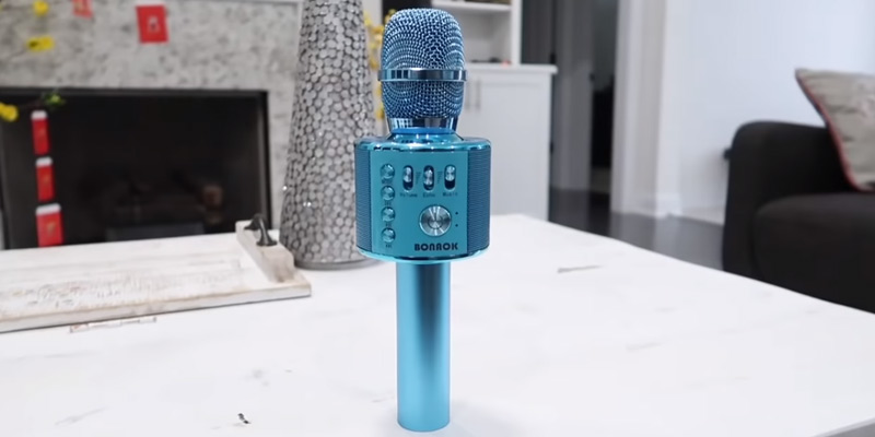 Review of BONAOK BKMK002H12RG Wireless Bluetooth Karaoke Microphone