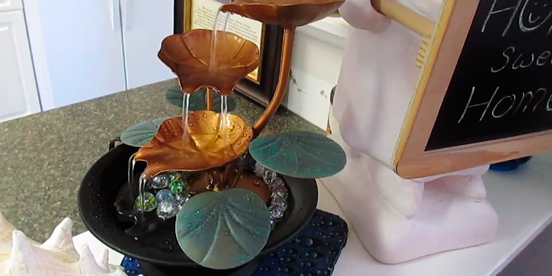 Review of Bits and Pieces COMINHKPR76530 Water Lily Tabletop Fountain